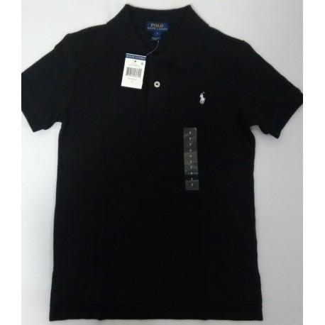 c69140d0b8cfa Camisa Polo negra talla 7 años - variedadesenlinea