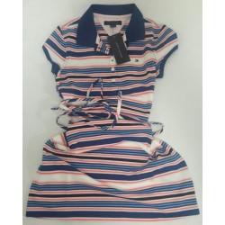 Vestido Tommy rayas rosado azul blanco